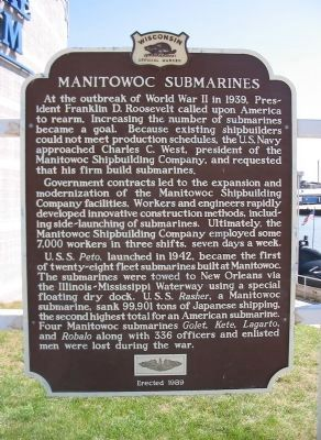 Manitowoc Submarines Marker image. Click for full size.