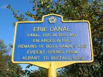 Erie Canal Marker - Vischer Ferry Nature & Historic Preserve image. Click for full size.