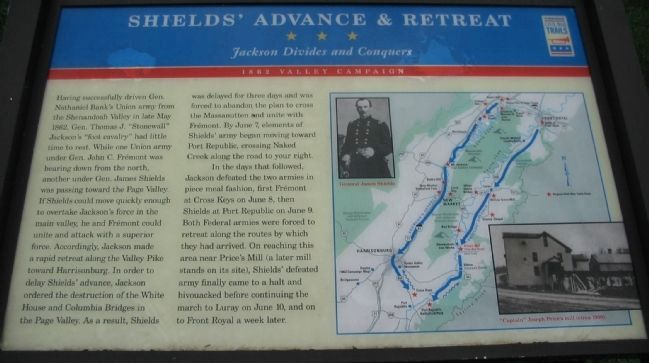 Shield's Advance & Retreat Marker Photo, Click for full size