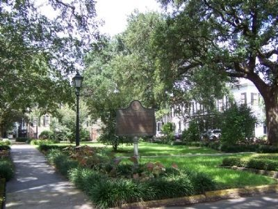 Georgia Medical Society Marker at Washington Square in Savannah image. Click for full size.