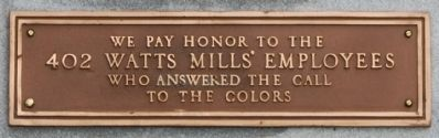 In Memoriam Marker - Lower Plaque image. Click for full size.