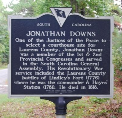 Jonathan Downs Marker Photo, Click for full size