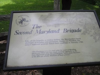The Second Maryland Brigade Marker image. Click for full size.