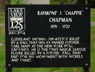 "Raymond J. ""Chappie"" Chapman Marker image. Click for full size."