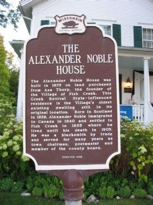 The Alexander Noble House Marker Photo, Click for full size