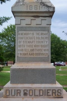 Stewart County Confederate Soldiers Monument image. Click for full size.