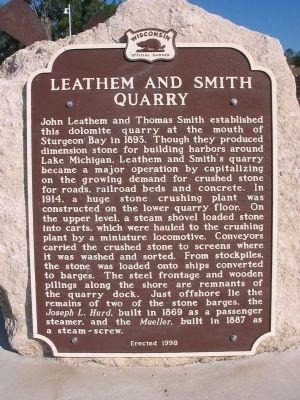 Leathem and Smith Quarry Marker image. Click for full size.