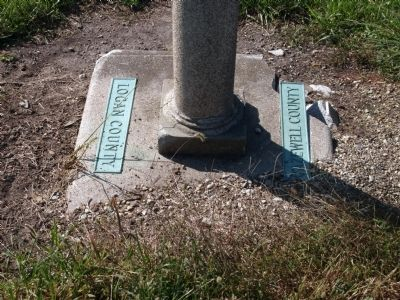 County Name Plates on Base of the Marker. image. Click for full size.