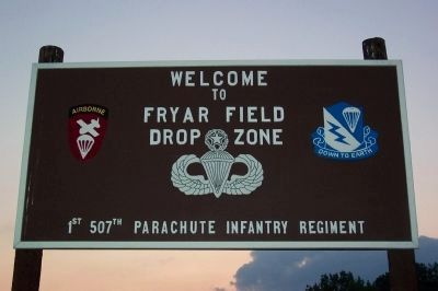 Fryar Field Welcome Sign image. Click for full size.