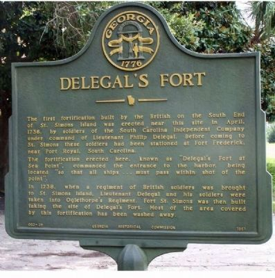 Delegal's Fort Marker Photo, Click for full size