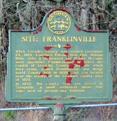 Site: Franklinville Marker image. Click for full size.