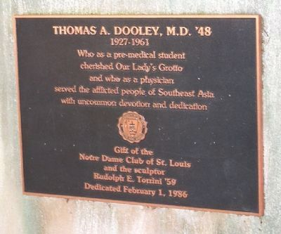 Thomas A. Dooley, M.D. '48 Marker image. Click for full size.
