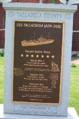 USS Talladega (APA-208) Marker Photo, Click for full size