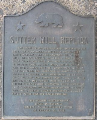 Sutter Mill Replica Marker image. Click for full size.