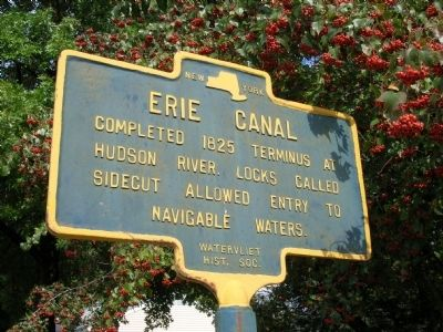 Erie Canal Marker - Watervliet, New York Photo, Click for full size