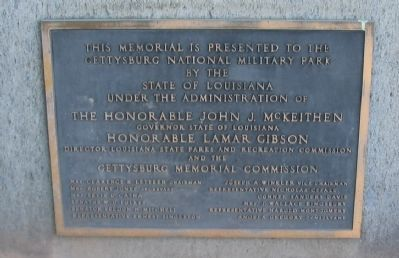 Dedication Plaque on Back of Marker Stone Photo, Click for full size