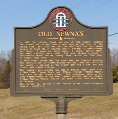 Old Newnan Marker image. Click for full size.