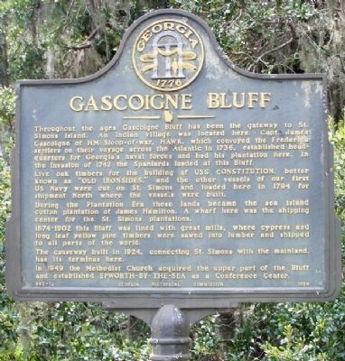 Gascoigne Bluff Marker image. Click for full size.