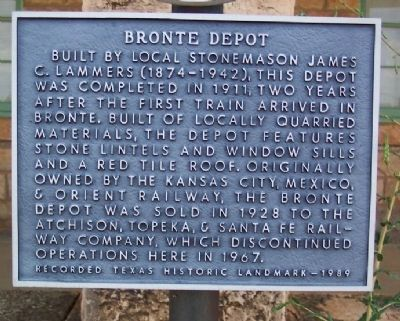 Bronte Depot Marker image. Click for full size.
