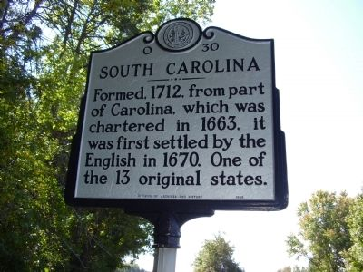 South Carolina Marker image. Click for full size.