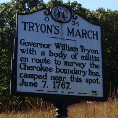 Tryon's March Marker image. Click for full size.