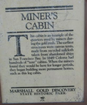 Miner�s Cabin Marker image. Click for full size.