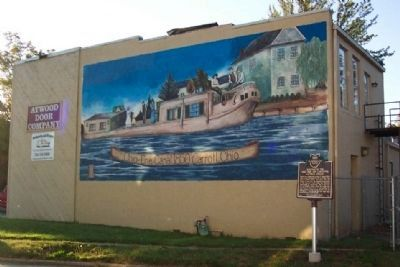 Canal Marker and Mural image. Click for full size.