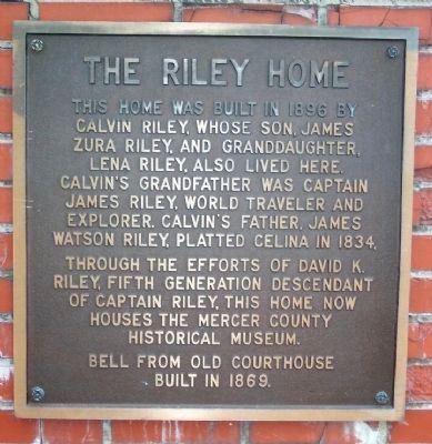 Riley Home Secondary Marker image. Click for full size.