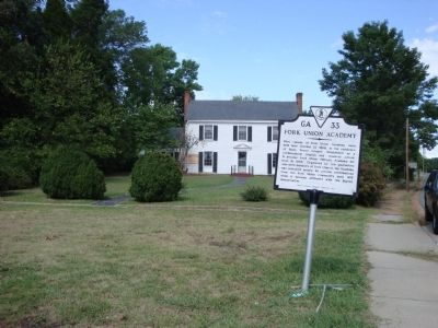 Wider view of Fork Union Academy Marker image. Click for full size.