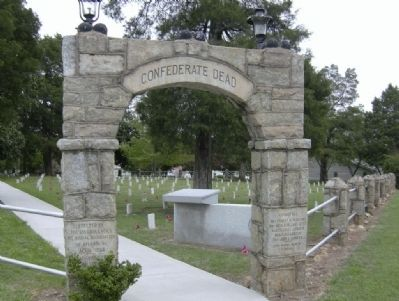Two Days of Battle at Jonesboro - Cemetery Arch Photo, Click for full size