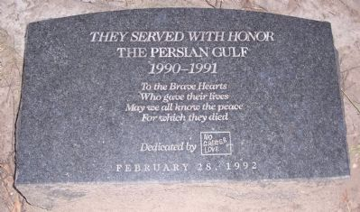 They Served with Honor - The Persian Gulf Marker image. Click for full size.
