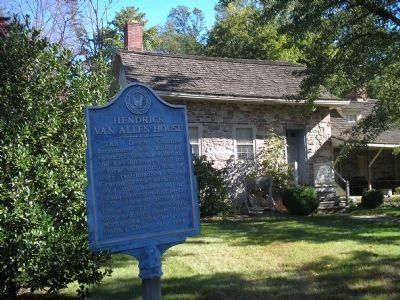 Hendrick Van Allen House and Marker image. Click for full size.