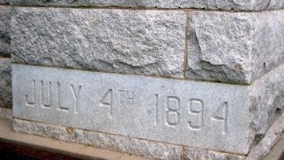 Cornerstone Placed July 4, 1894 image. Click for full size.