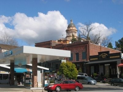 View of Placer County Courthouse from Downtown Auburn image. Click for full size.