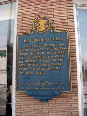The Lincoln House Marker image. Click for full size.