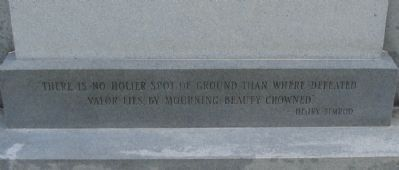 Citation at the Base of the Front of Monument Photo, Click for full size