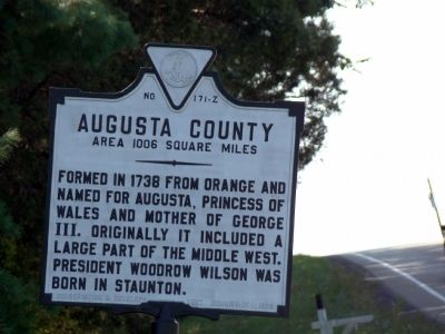Augusta County Face of Marker image. Click for full size.
