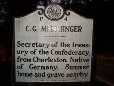 C.G. Memminger Marker image. Click for full size.