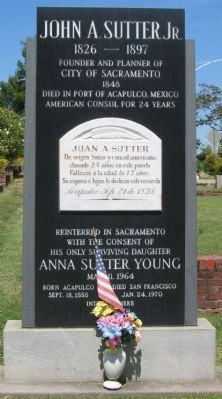 John A. Sutter, Jr. Marker Photo, Click for full size
