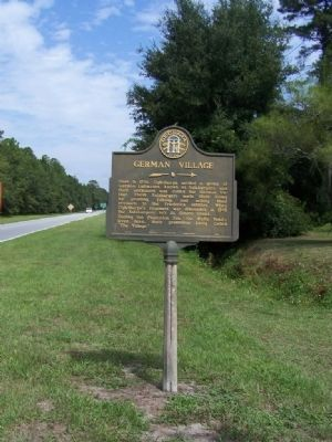 German Village Marker, looking northward on Lawrence Rd image. Click for full size.