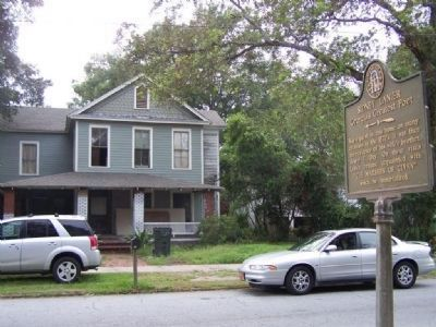 Sidney Lanier Marker and Day House image. Click for full size.