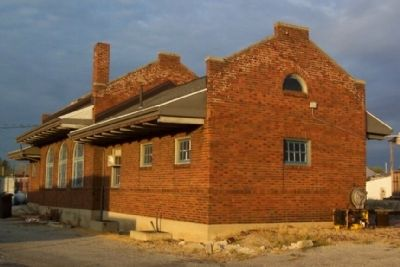 Dayton and Michigan Railroad Depot (rear) image. Click for full size.