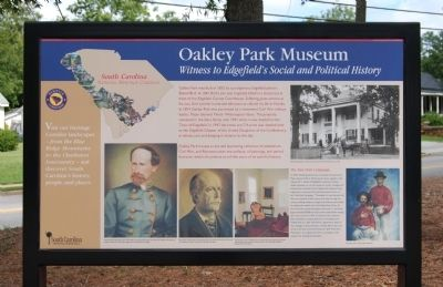 Oakley Park Museum Marker Photo, Click for full size