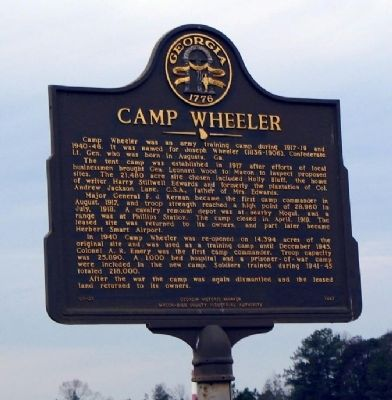 Camp Wheeler Marker image. Click for full size.