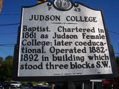 Judson College Marker image. Click for full size.