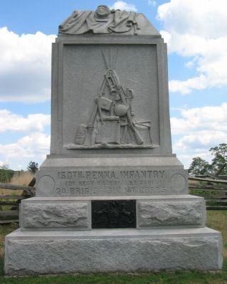 150th Pennsylvania Infantry Monument Photo, Click for full size