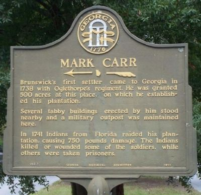 Mark Carr Marker image. Click for full size.