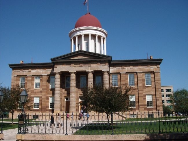 The Old State Capitol - - Springfield, Illinois image. Click for full size.