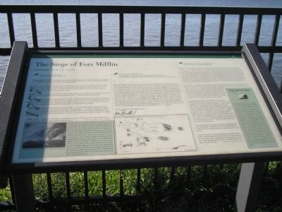 The Siege of Fort Mifflin Marker image. Click for full size.