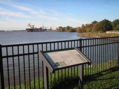 Marker on the Delaware River image. Click for full size.